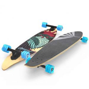 Fathom by Shark Wheel Cruiser Mini Drop Pintail Longboard
