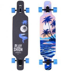 Playshion 39 Inch Drop Through Freestyle Longboard