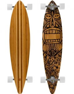 Tiki Man Bamboo Skateboards Pintail Longboard