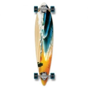 Yocaher Punked Graphic Pintail Complete Longboard