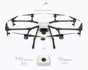 3) DJI Agras MG-1 Agriculture Spraying Drone with Battery Charger